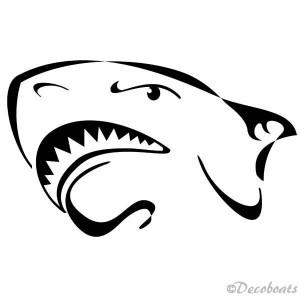 Sticker Tête requin noire B