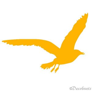 Sticker Mouette jaune moutarde T