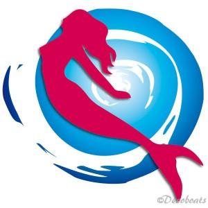 Autocollant Sirène Soleil bleu rge babord