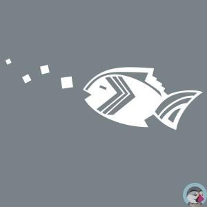 Pochoir poisson carré