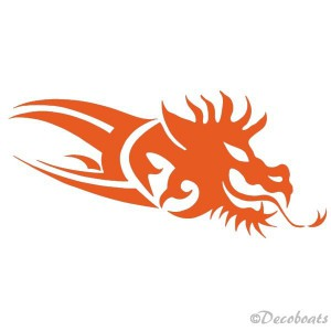 Sticker Dragon orange tribord