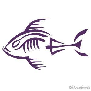 Piranha squelette babord amethiste