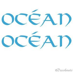Lettrage OCEAN