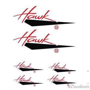 Lot stickers Hawk