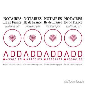 lot de 4 adhésifs voile logo ADD