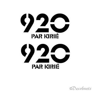 Lot de 2 logos 920 par Kirie