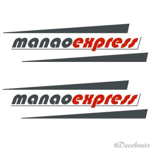 Lot 2 stickers coque logo manaoexpress
