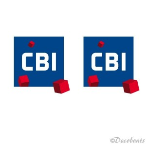 lot 2 adhésifs voile logos sponsors CBI