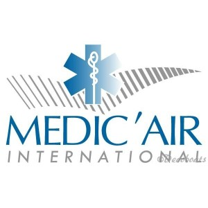 Lot de 2 stickers logo Medic'air
