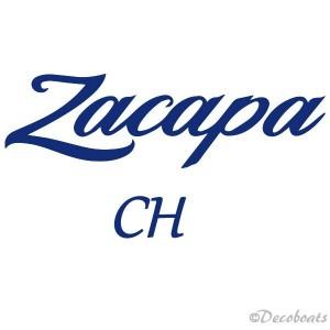 Sticker Nom bateau Zacapa