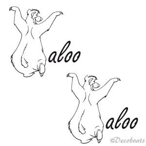 Lot de 2 stickers nom Baloo