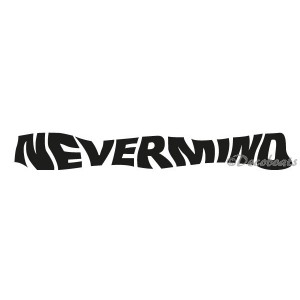 Sticker personnalisé nom Nevermind