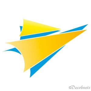 Sticker 2Voiles couleurs jaune bleu