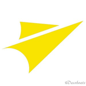 Sticker Voiles jaune