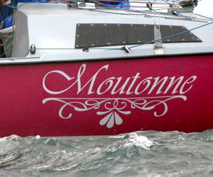 Stickers nom de bateau personnalisé