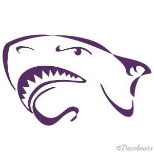 Sticker Tête requin