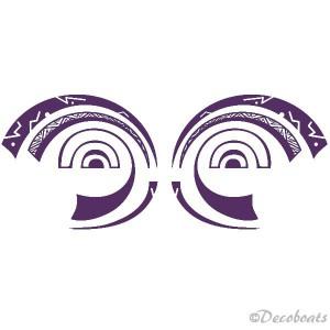 Lot de 2 stickers Yeux Polynésiens
