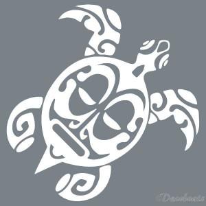 Pochoir Tortue Maori