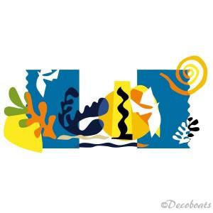 Autocollant style Matisse