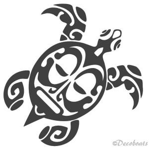 Sticker Tortue Maori