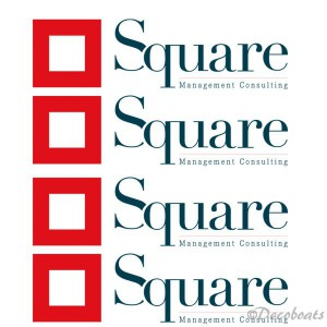 Sticker voile logo Square Management consulting