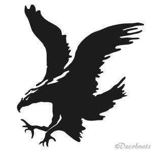 sticker Aigle royal