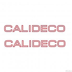 Lettrage CALIDECO pour coque