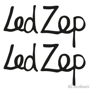 lettrage personnalisée Led Zep