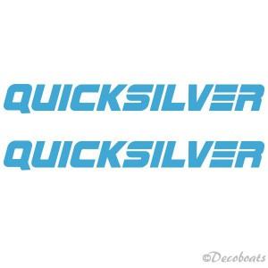"""lot de 2 logos """"Quicksilver"""" bleu ciel"""