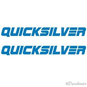 """lot de 2 logos """"Quicksilver"""""""