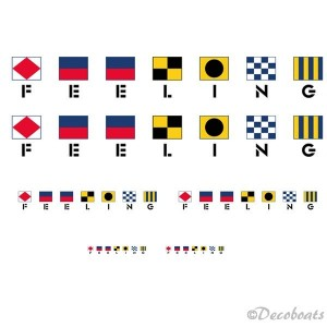 lot de 6 logos Feeling