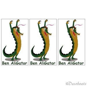 Lot 3 stickers Ben Aligator