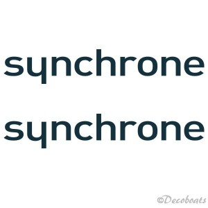 Lot de 2 stickers logo Synchrone