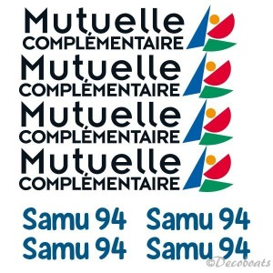 Lot stickers Samu 94 sponsors course