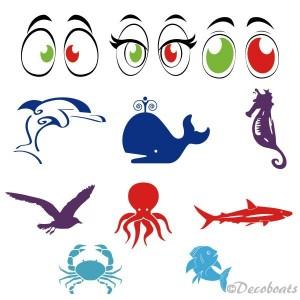 Stickers pour 8 optimists école de voile