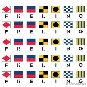 Lot de 5 logos Feeling