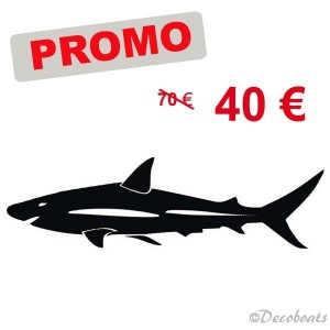 Promo grand sticker requin