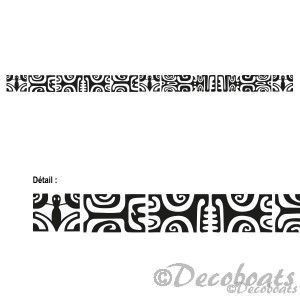 Sticker frise maori pesonnalisée