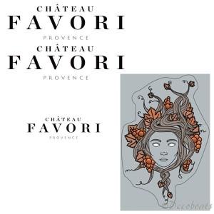 Stickers coque et voile sponsor Château Favori