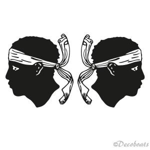 Adhésif voile logo Corse