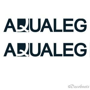 lot 2 adhésifs logo Aqualeg
